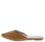 Desert1 Tan Quilted Pointed Toe Mule Flat