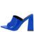 Devoted Blue Pointed Open Toe Mule Slide Block Heel