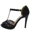 Natalie134 Black Women's Heel - Wholesale Fashion Shoes