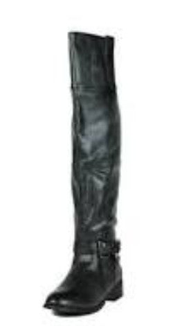 Olympia05 Black Distressed Moto Boot - Wholesale Fashion Shoes