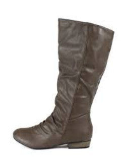 Odell01 Taupe Slouchy Faux Leather Boot - Wholesale Fashion Shoes