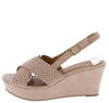 Ebbe33 Blush Cross Strap Slingback Platform Wedge - Wholesale Fashion Shoes