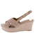 Ebbe33 Blush Cross Strap Slingback Platform Wedge