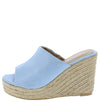 Emery04 Blue Open Toe Slide Espadrille Platform Wedge - Wholesale Fashion Shoes