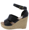 Emery07 Black Cut Out Open Toe Platform Espadrille Wedge - Wholesale Fashion Shoes