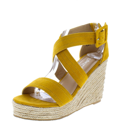 Emery08 Yellow Women's Wedge - Wholesale Fashion Shoes