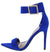 Exception51 Electric Pointed Open Toe Ankle Strap Heel