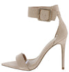 Exception51 Nude Pointed Open Toe Ankle Strap Heel - Wholesale Fashion Shoes