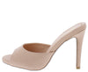 Grammy266 Blush Pu Peep Toe Slide Stiletto Heel