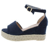 Grass203 Dark Blue Women's Wedge - Wholesale Fashion Shoes