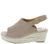 Grass602 Khaki Suede Women's Wedge - Wholesale Fashion Shoes