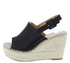 Grass603 Black Women's Wedge - Wholesale Fashion Shoes