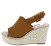 Grass603 Camel Women's Wedge - Wholesale Fashion Shoes
