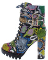 Hailey01 Multi Snake Women's Boot - Wholesale Fashion Shoes