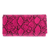 Marcella291 Pink Snake Envelope Clutch Handbag - Wholesale Fashion Shoes