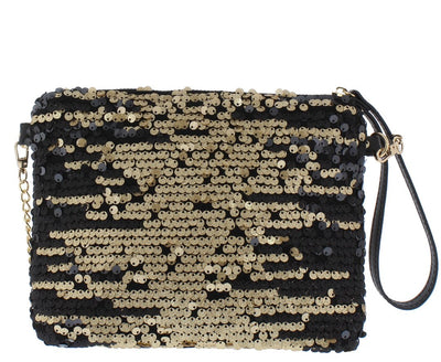 Chloe093 Bronze Sequin Handbag - Wholesale Fashion Shoes