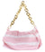 Irene295 Baby Pink Striped Gold Chain Handbag