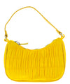 Emily076 Yellow Ruched Top Zip Mini Shoulder Handbag - Wholesale Fashion Shoes