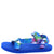 Heart01 Blue Tie Dye Women's Sandal