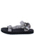 Heart01 Grey Tie Dye Women's Sandal