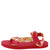Heart01 Red Tie Dye Women's Sandal