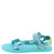 Heart01 Teal Tie Dye Women's Sandal