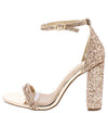 Hoco Rose Gold Patent Women's Heel - Wholesale Fashion Shoes