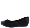 Inner31w Black Wide Width Ballet Slide Comfort Flat - Wholesale Fashion Shoes