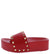 Angela127 Red Rock Stud Open Toe Platform Slide Sandal