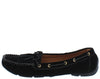 Jimmi04 Black Grommet Stitch Tie Boat Shoe Flat - Wholesale Fashion Shoes