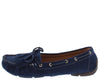 Jimmi04 Navy Grommet Stitch Tie Boat Shoe Flat - Wholesale Fashion Shoes