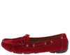 Jimmi04 Red Grommet Stitch Tie Boat Shoe Flat - Wholesale Fashion Shoes