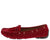 Jimmi04 Red Grommet Stitch Tie Boat Shoe Flat