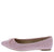 June01 Mauve Pointed Toe Tied Bow Ballet Flat