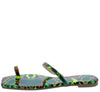 Lydia210 Green Open Toe Ring Slide On Flat Sandal - Wholesale Fashion Shoes
