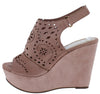Kama01 Mauve Peep Toe Laser Cut Slingback Platform Wedge - Wholesale Fashion Shoes