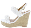 Kelsey125 White Women's Wedge