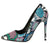 Arianna197 Multi Snake Pointed Toe Stiletto Heel