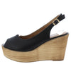 Kite01 Black Women's Wedge - Wholesale Fashion Shoes