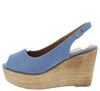 Kite01 Blue Peep Toe Slingback Platform Wood Wedge - Wholesale Fashion Shoes