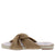 Krista Camel Cross Wrap Strap Open Toe Slide Sandal
