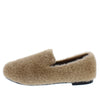 Laid Back Taupe Faux Fur Loafer Flat - Wholesale Fashion Shoes