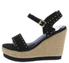 Lana11 Black Suede Women's Wedge - Wholesale Fashion Shoes