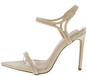 01575246b9a6 Ella034 Nude Pointed Open Toe Ankle Strap Stiletto Heel - Wholesale Fashion  Shoes