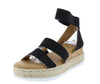 Leading15 Black Women's Sandal - Wholesale Fashion Shoes