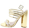 Lyra06 Gold Women's Heel - Wholesale Fashion Shoes