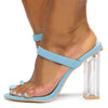 Macaroon Blue Women's Heel - Wholesale Fashion Shoes
