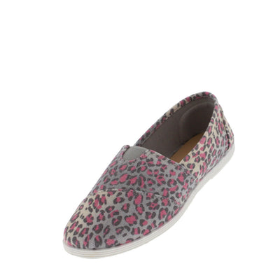 Maine01 Pink Leopard Canvas Flat - Wholesale Fashion Shoes