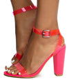 Mania41 Neon Pink Women's Heel - Wholesale Fashion Shoes