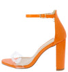 Mellona35 Orange Women's Heel - Wholesale Fashion Shoes